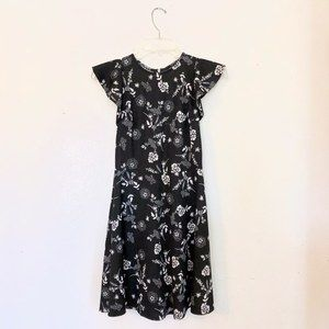 NWOT Black Floral Dress Size XS